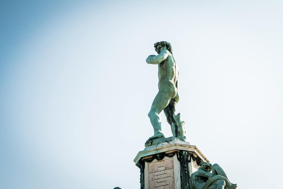 David Michelangelo statue Florence piazzale michelangelo