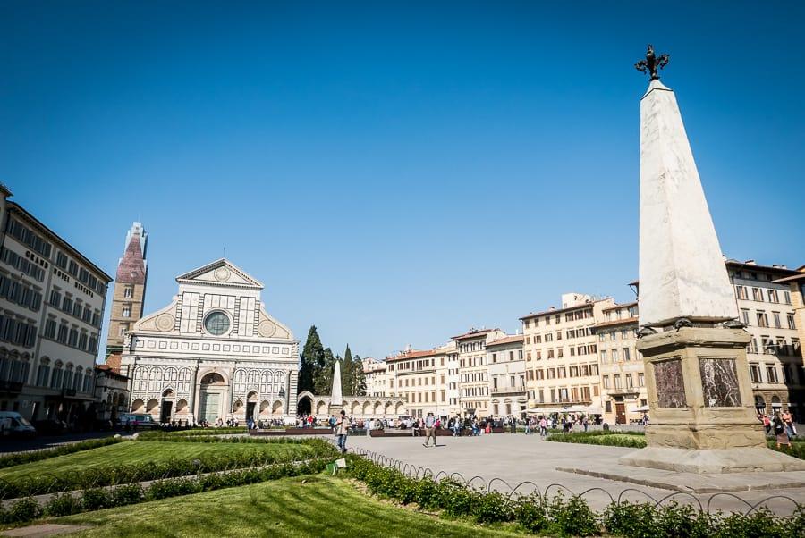 Santa Maria novella Church Florence square