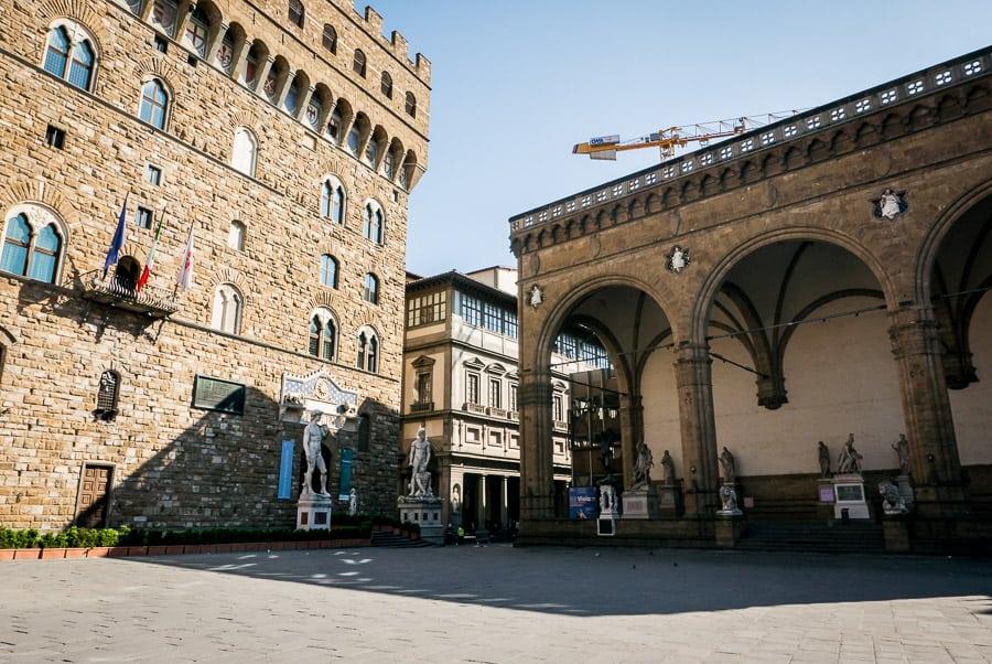Palazzo vecchio florence piazza della signoria loggia dei lanzi