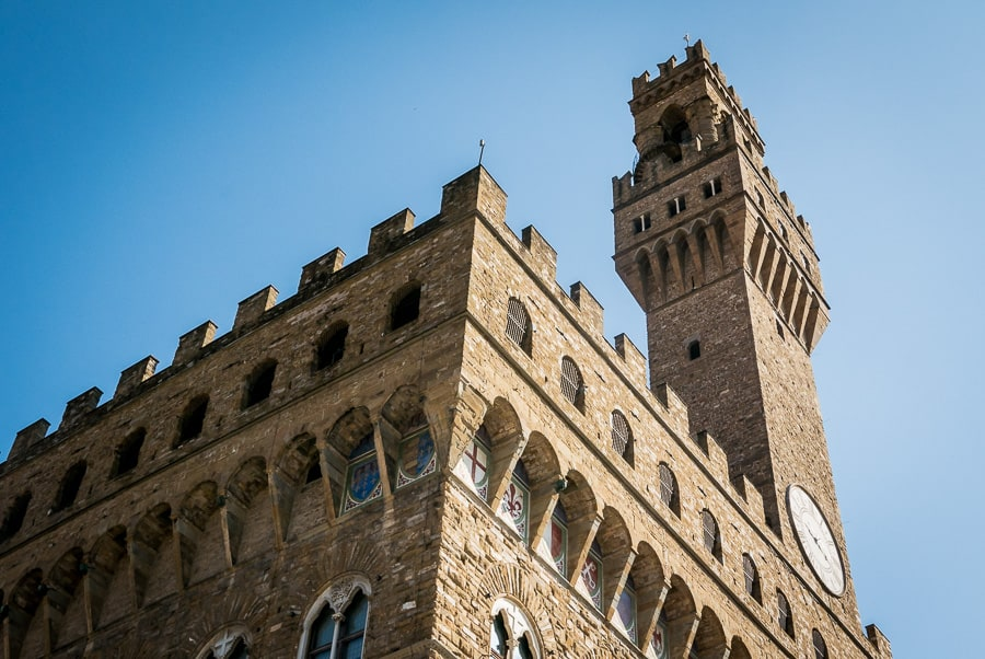 Palazzo vecchio florence piazza della signoria campanile