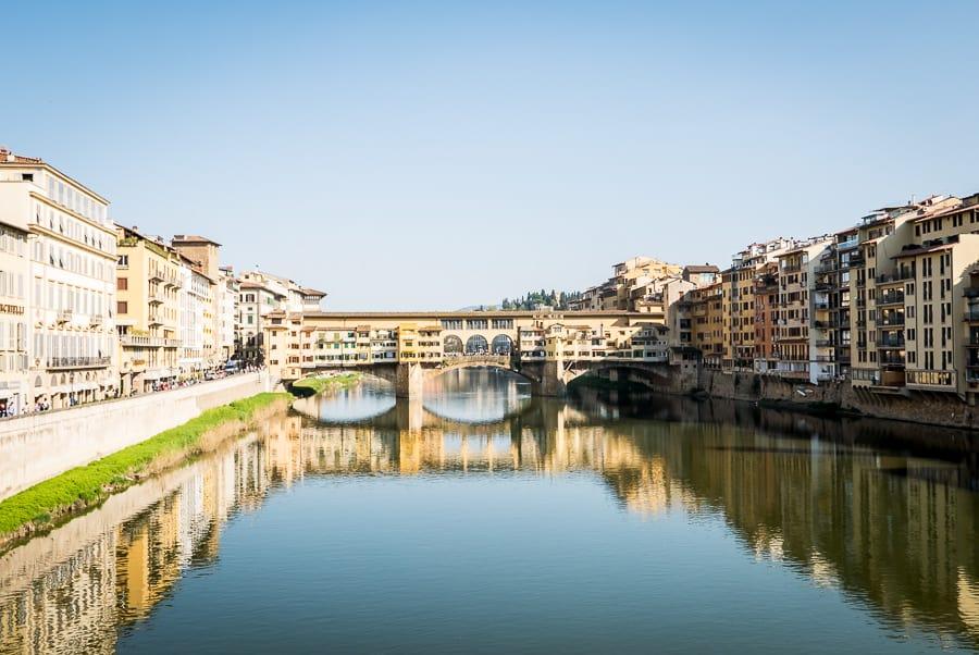Ponte Vecchio view from ponte santa trinità Florence