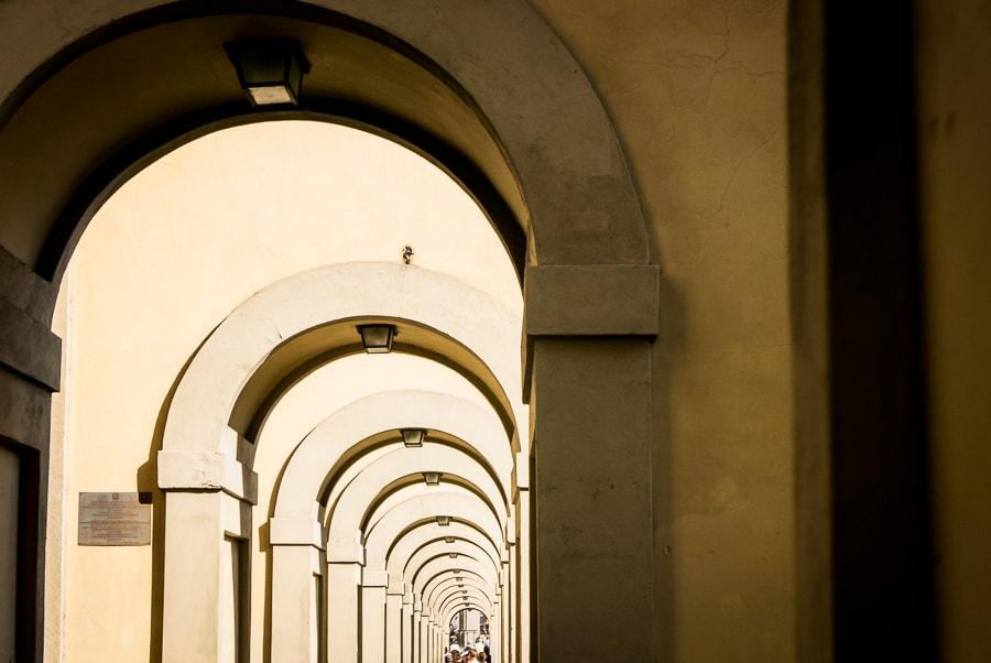 Florence Vasari Corridor Loggiato Detail