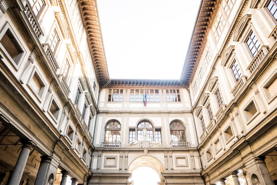 Uffizi gallery museum florence detail