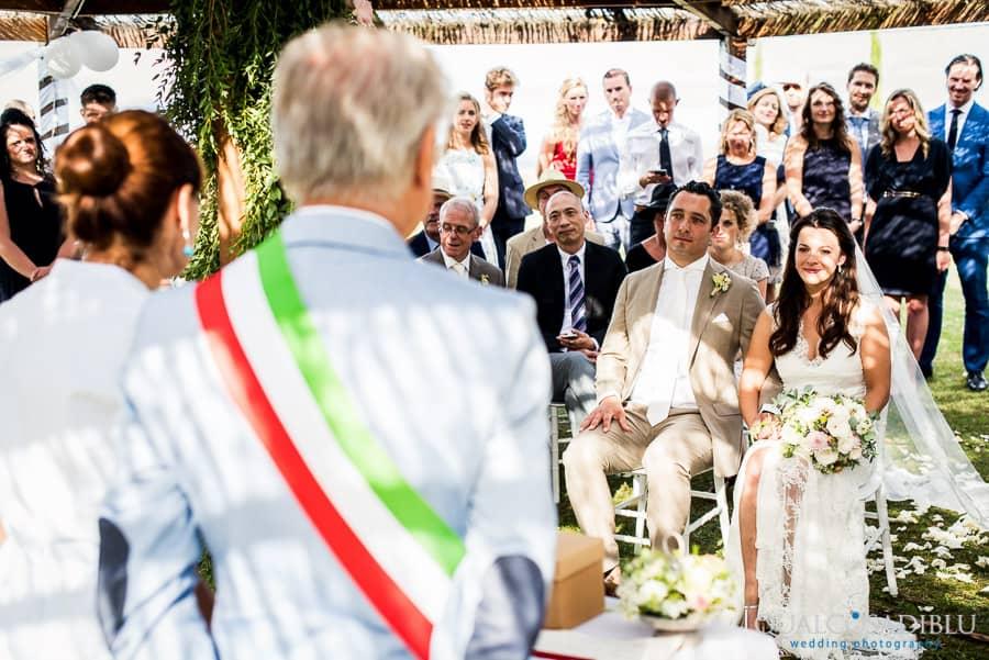 ceremony borgo della meliana bride and groom