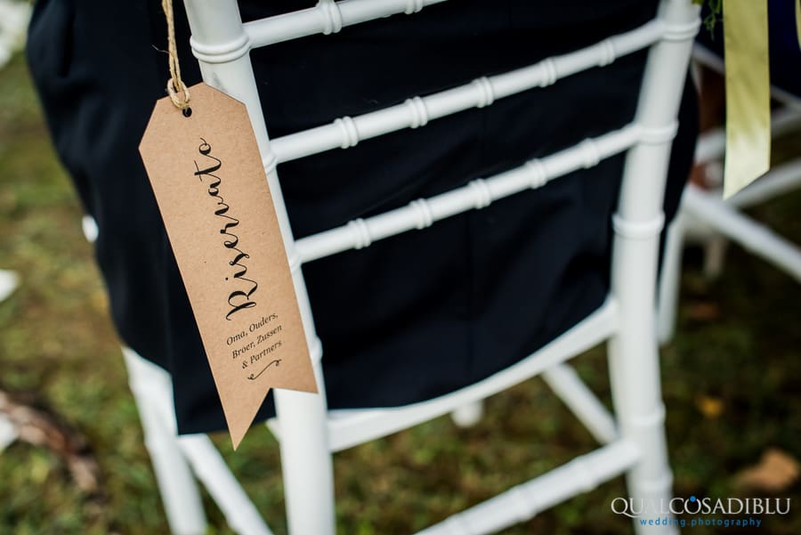 tag chairs for the bride and groom