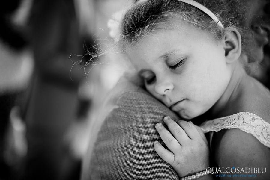 baby sleeping wedding