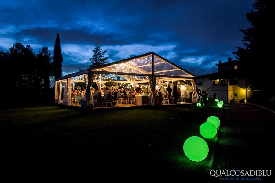 wedding dinner borgo della meliana night lights