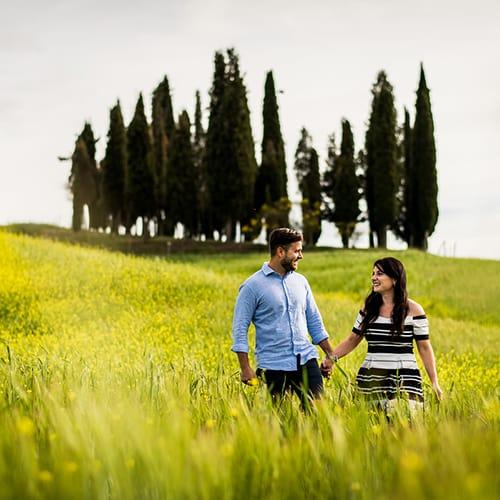 Engagement at San Quirico d'Orcia   Molly & John