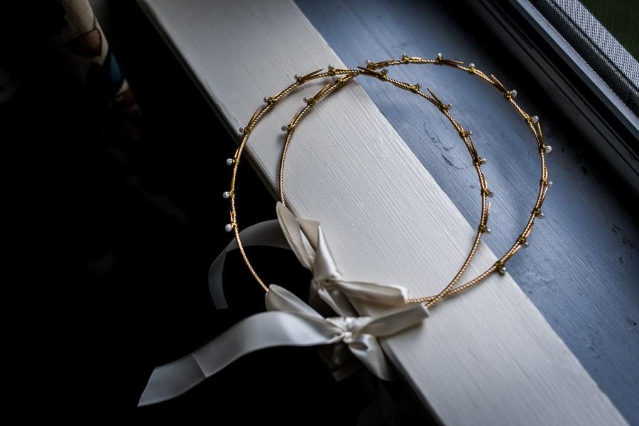 Wedding getting ready crowns details