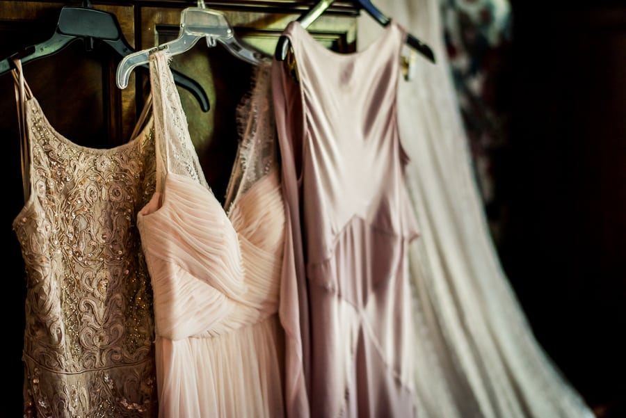 wedding getting ready dresses bridesmaids pink