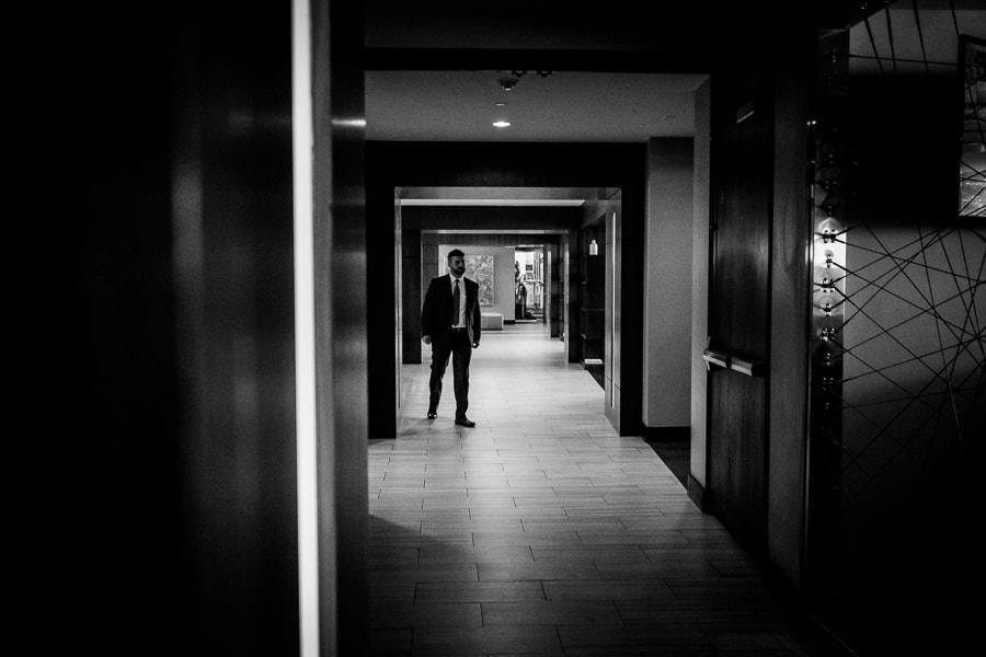groom black and white hotel zero degrees ct