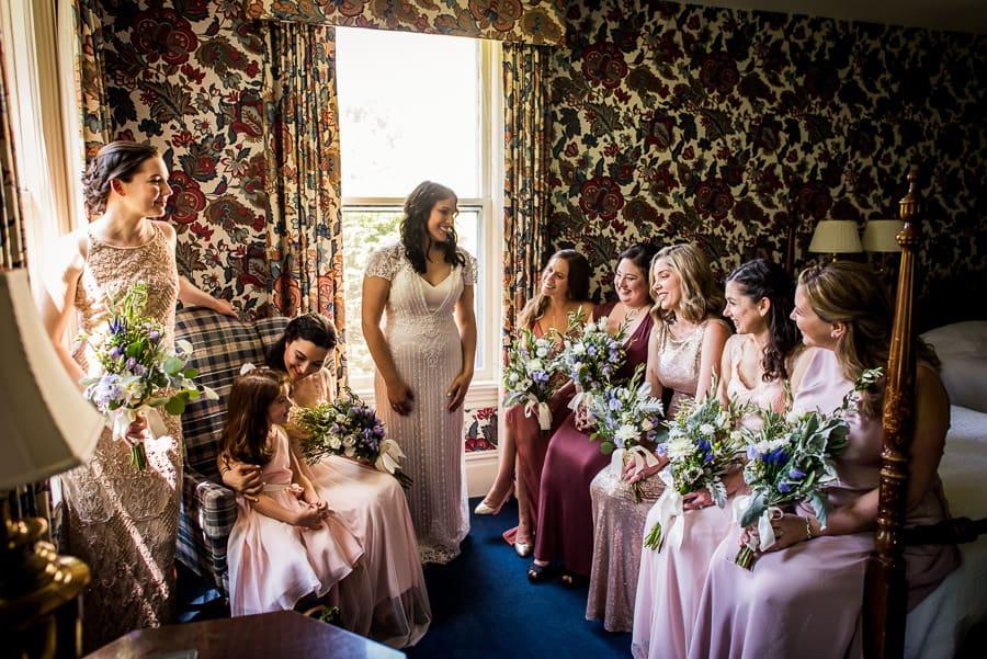 wedding getting ready bridal party west lane inn ct