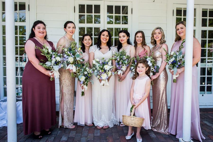 wedding bridal party keeler tavern museum ridgefiled ct