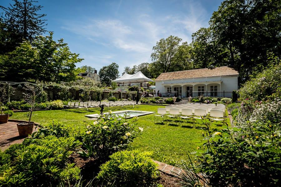 keeler tavern museum wedding ceremony garden