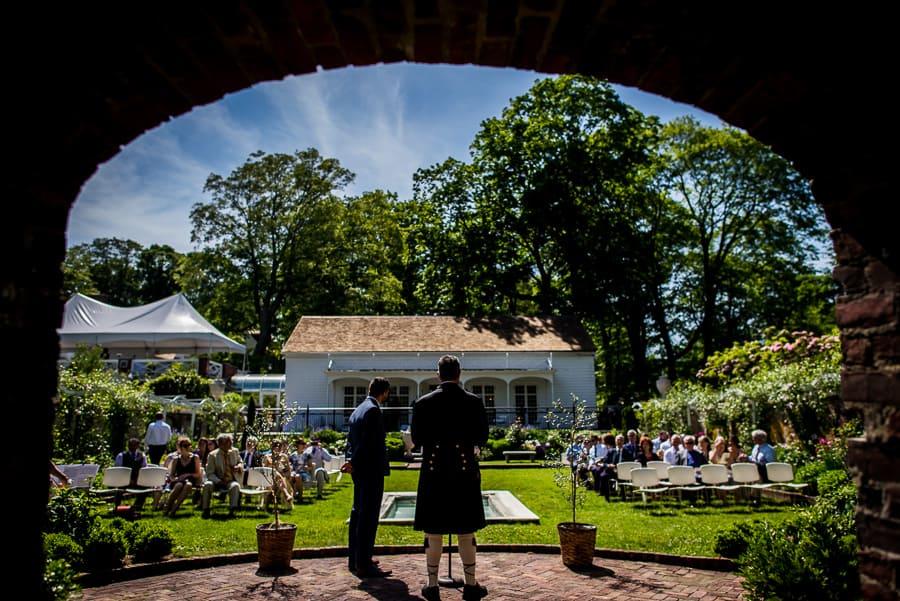 wedding keeler tavern museum ct groom celebrant