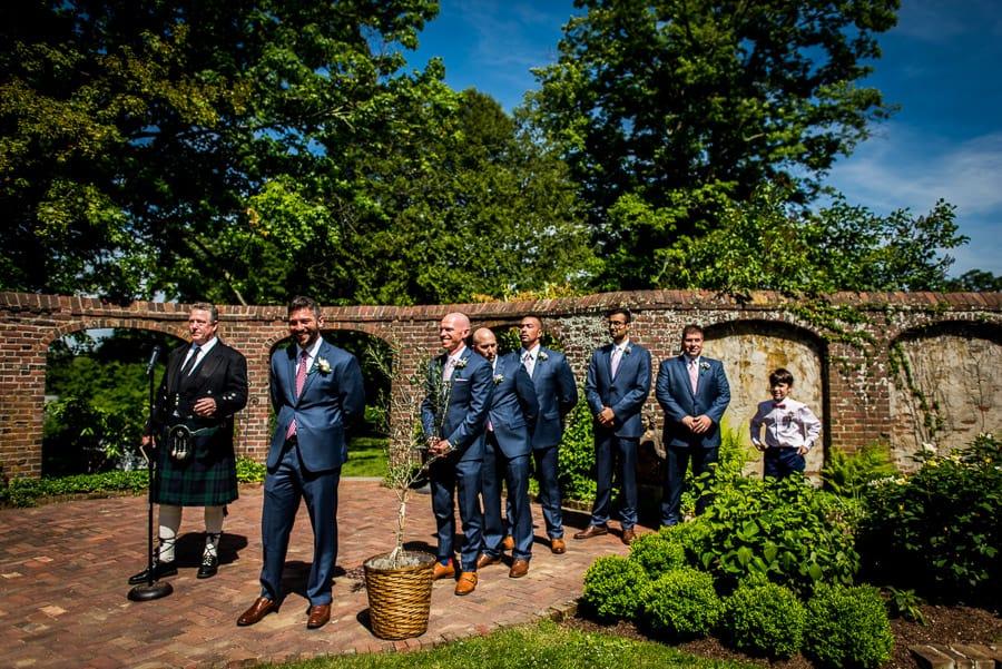 wedding groom best men keeler tavern museum ct