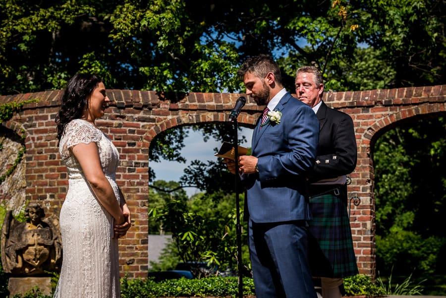 marriage bride and groom vows garden