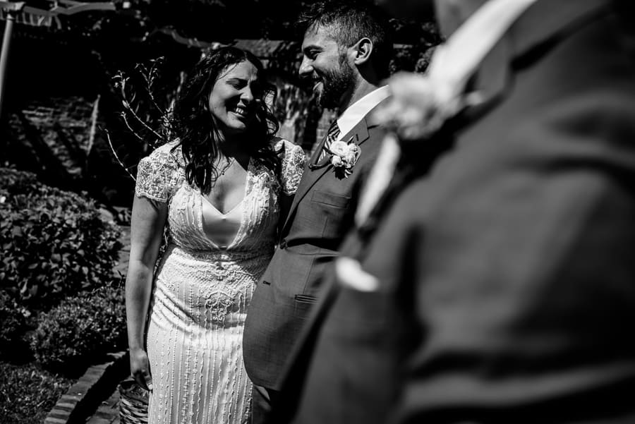 ceremony bride groom smiling