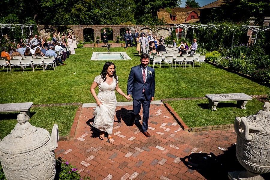 just married keeler tavern museum bride groom