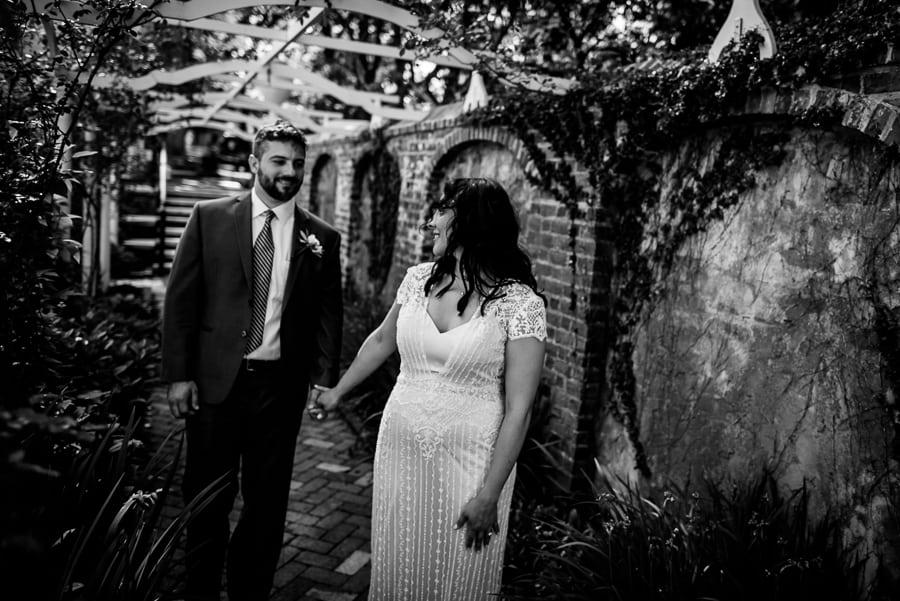 bride groom walking smiling keeler tavern museum
