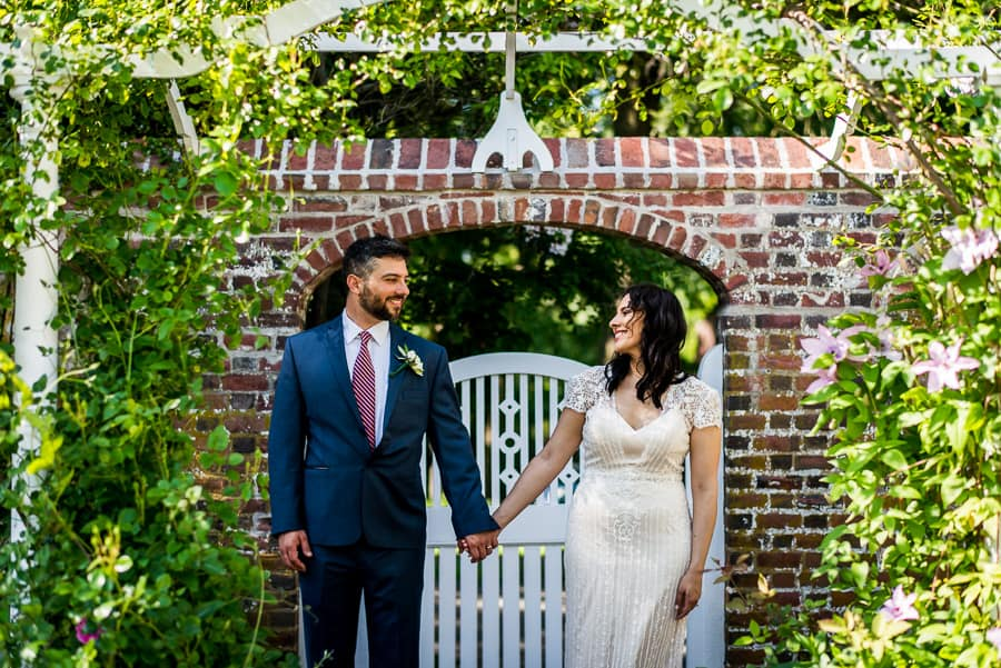 hand by hand bride groom together keeler tavern museum