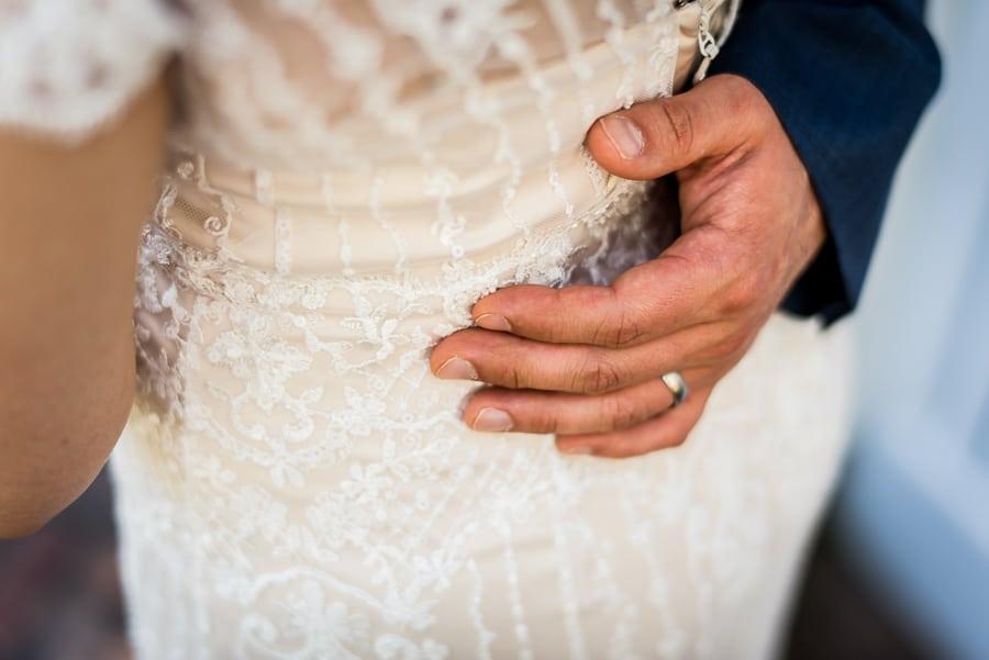 wedding hand groom bride dress