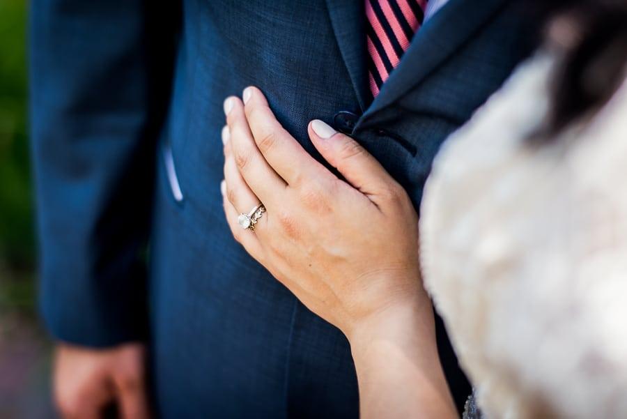 wedding hand bride dress groom