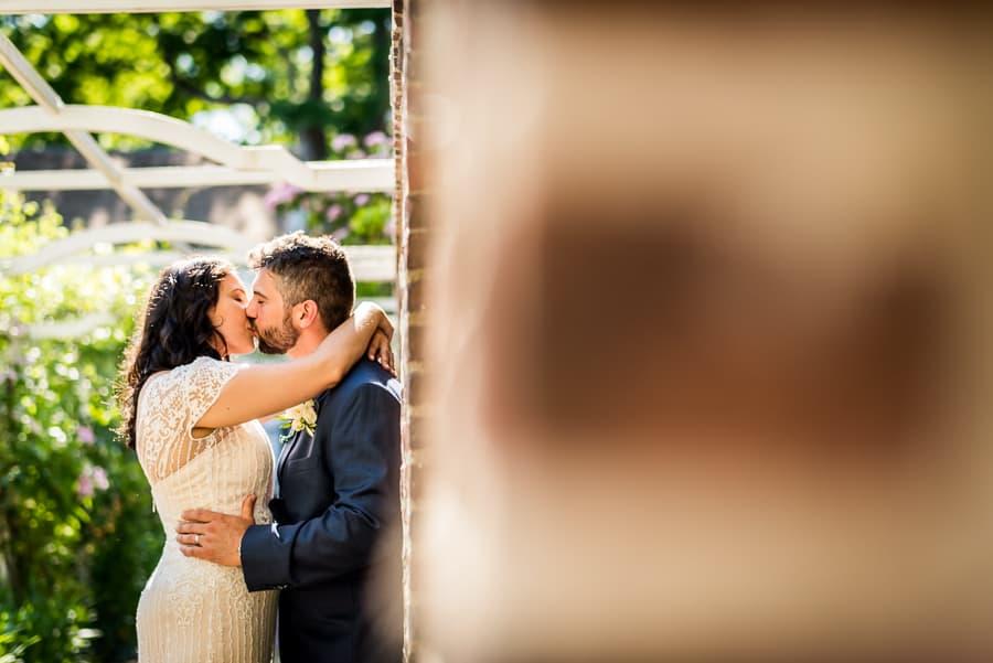bride groom kiss detail keeler tavern museum