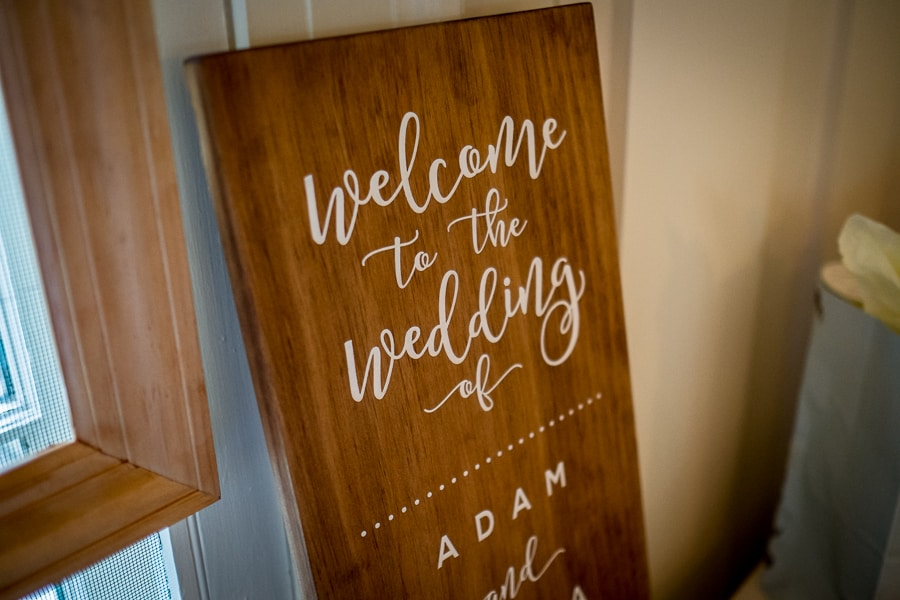 welcome to the wedding board