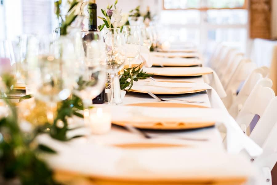 wedding dressed tables details