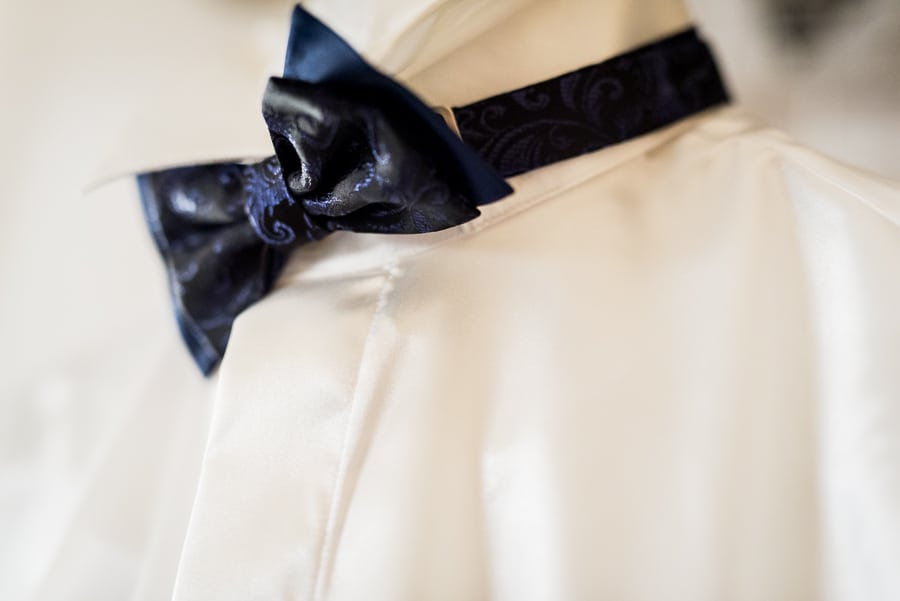 bow tie shirt groom detail