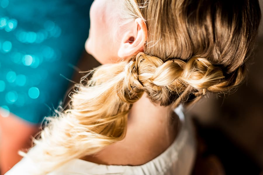 bride hairstyle blonde getting ready