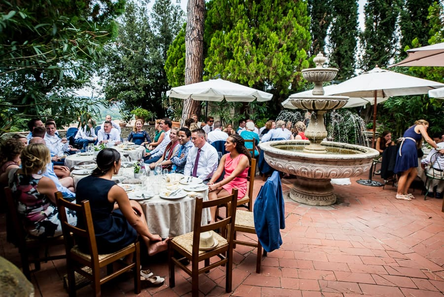 lunch wedding il castello restaurant certaldo