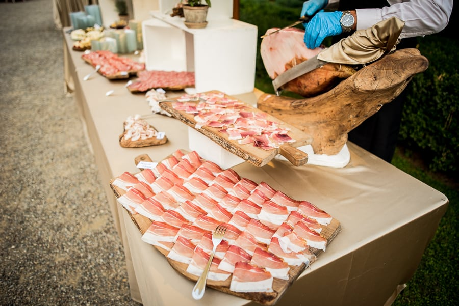 appetizers wedding table ham