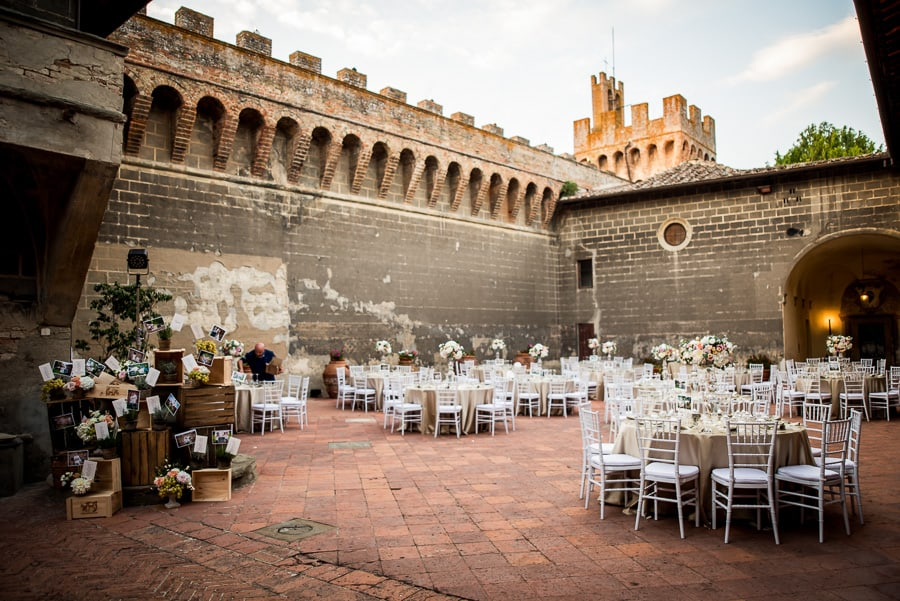 wedding venue dressed tables castle oliveto