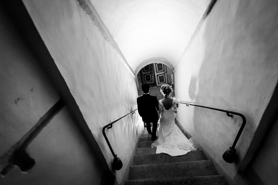 726 bride groom walking together castle oliveto