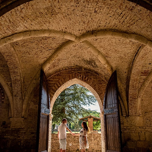 Engagement at San Galgano Abbey – Siena   Ralph & Marise