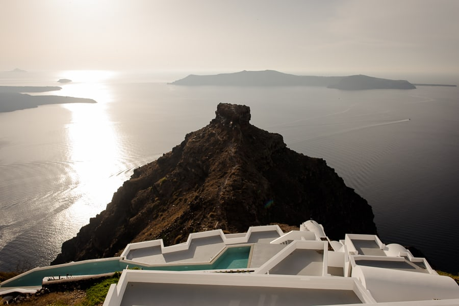 skaros rock imerovigli with cozy swimming pools