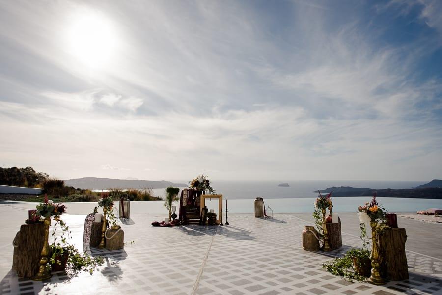 ceremony spot wedding santorini