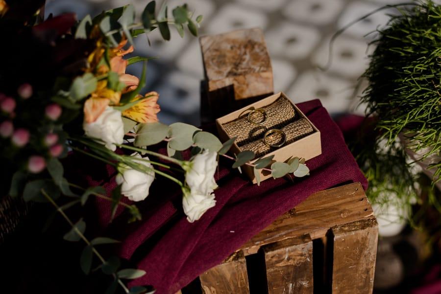 detail of rings santorini wedding