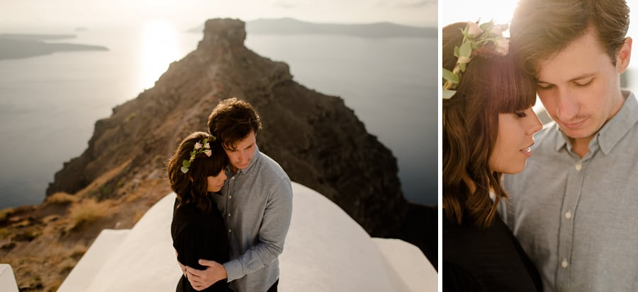 engagement skaros rock imerovigli intimate couple