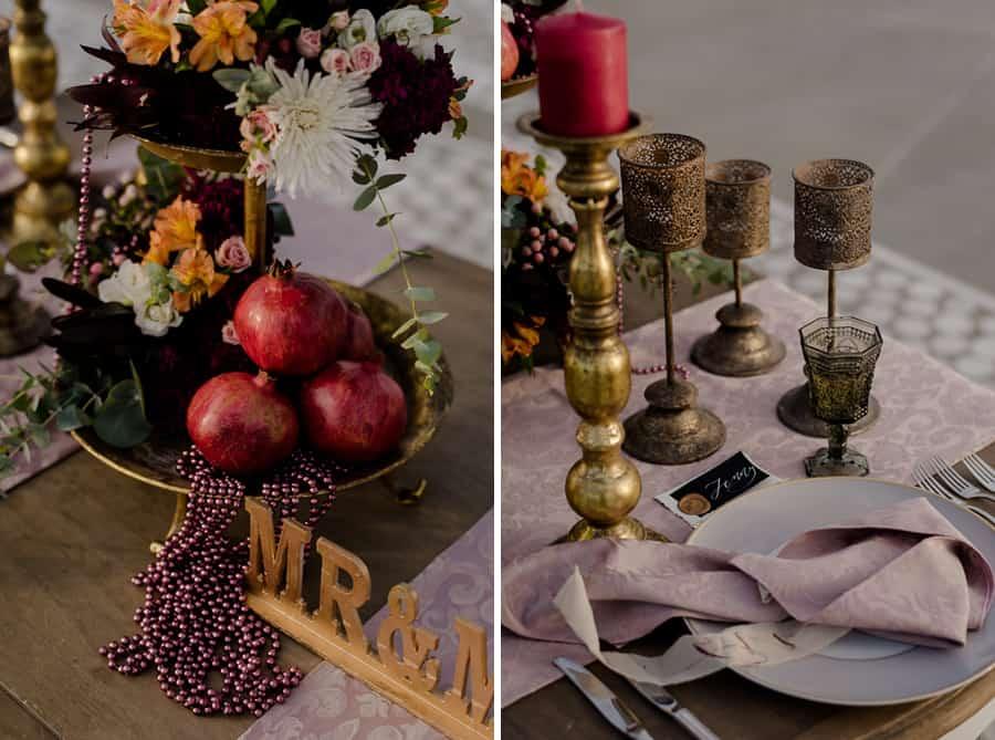 detail dressed table wedding venue eros santorini