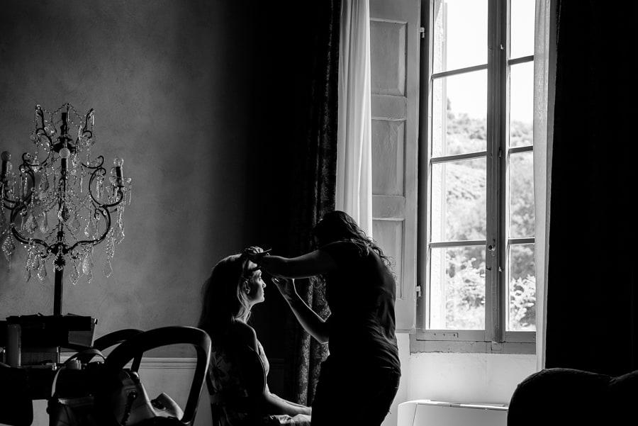 Make up of the bride at Villa il Salicone Pistoia