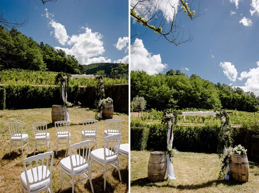 Ceremony spot at Villa il Salicone Pistoia