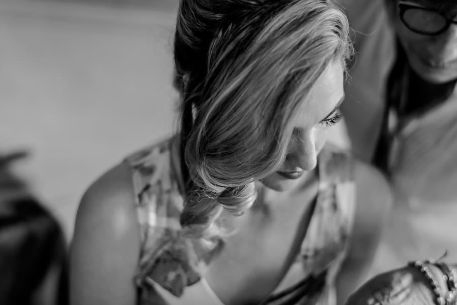Bride portrait in black and white