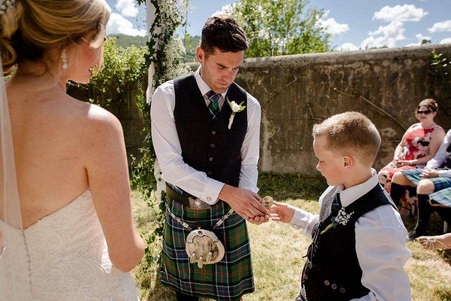 Kid bringing the wedding rings