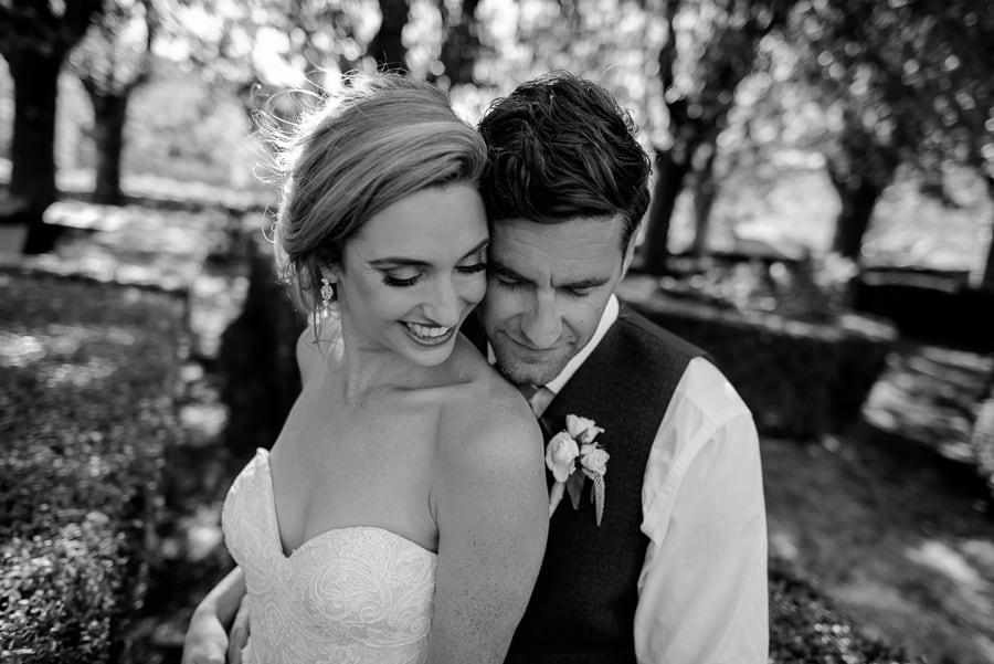Romantic couple portrait Bride and Groom