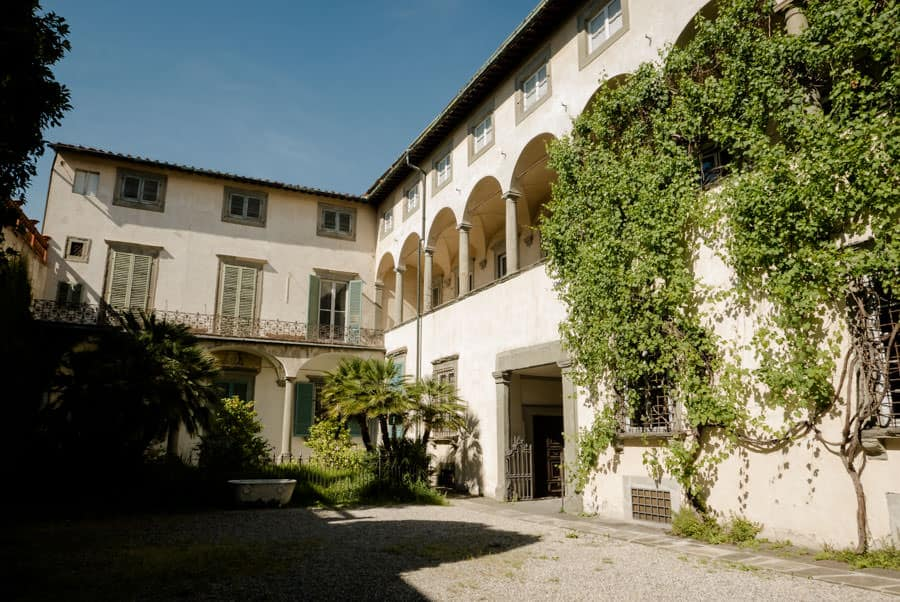 Courtyard of Palazzo Mansi in Lucca