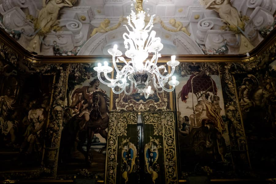 Rooms inside Palazzo Mansi in Lucca