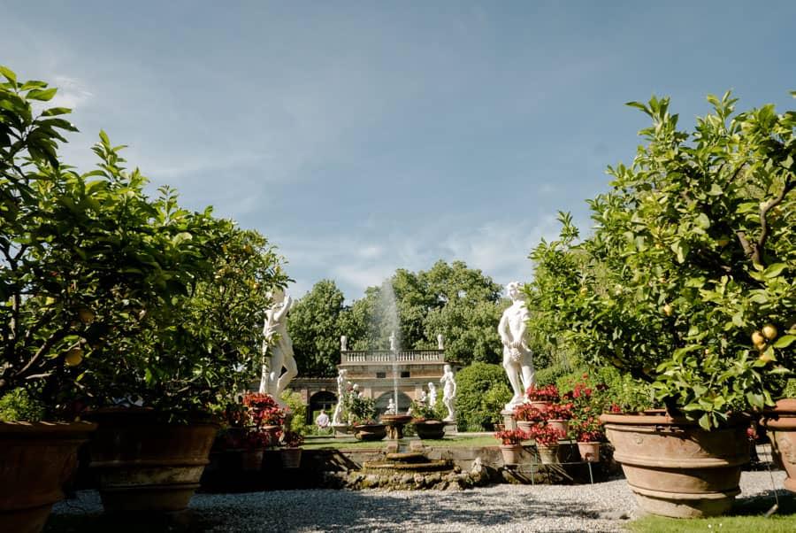 Garden of Palazzo Pfanner in Lucca